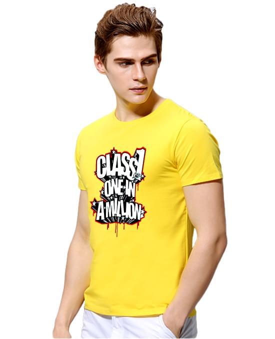 领条撞色T恤